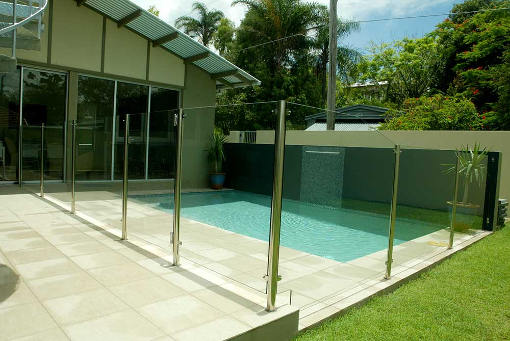 Glass Pool Fencing Semi Frameless Design 8 Stainless Steel