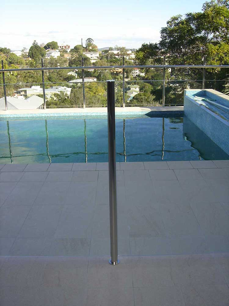 Glass pool fencing semi frameless design 8 stainless steel for Pool fence design qld